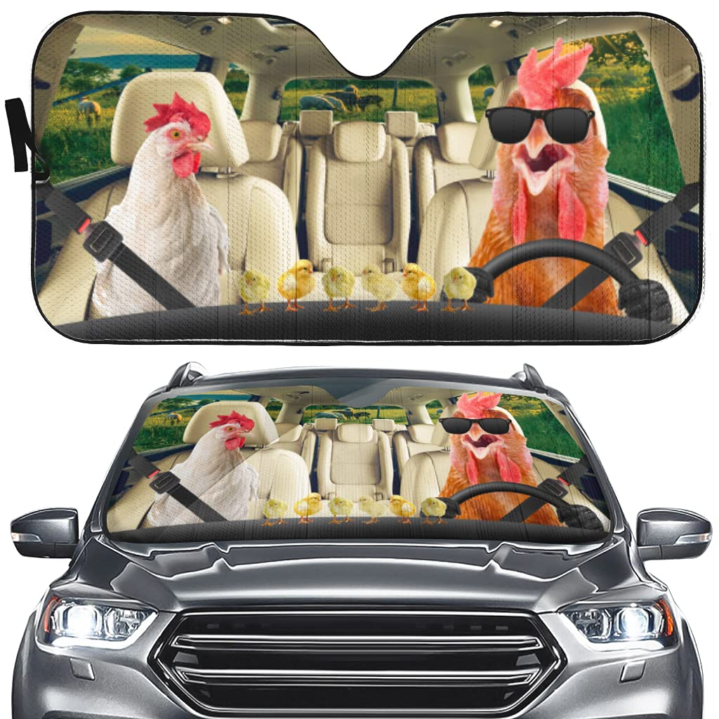 Rooster Driver Car Windshield Sun Popular brand 4 years warranty Chick Shade Dec Cute