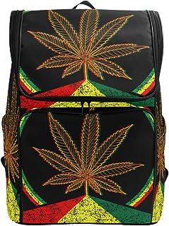 School Backpack Marijuana Leaf Colorful Ink Splatter College Book Bag Travel Hiking Rucksack Computer Bag for Women & Men
