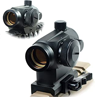 West Lake Tactical Quick Release Tactical Reflex Red Green Dot Sight Scope w/Dual Riser/Low Profile Rail Mounts