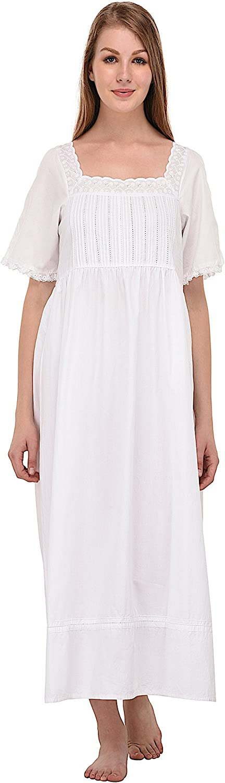 Cotton Lane White Cotton Lace Nightdress