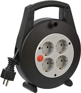 Brennenstuhl Vario Line Kabelbox 4-voudig/mini-kabelhaspel (indoor kabelhaspel voor huishouden, 5 m kabel, Made in German...