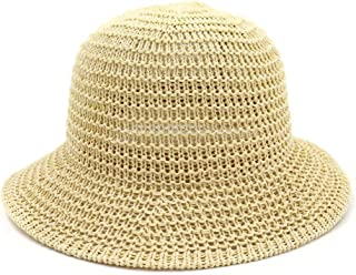 QinMei Zhou Spring and Summer Korean Version of The Dome Folding Basin Cap Visor Fisherman hat Outdoor Beach Sun hat Female (Color : Beige, Size : One Size)