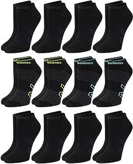 New Balance, Calcetines transpirables de punto plano para mujer (12 unidades)