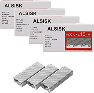 Alsisk Pack of 4000PCS No.10 Mini Staples(Smaller Than Standard Staples) .Silver