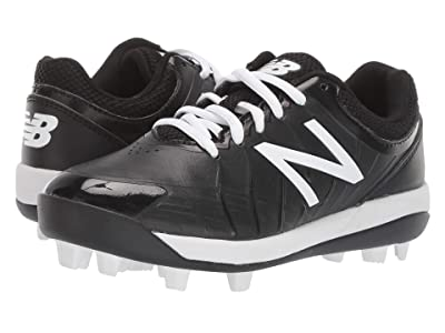 New Balance Kids 4040v5 Baseball (Little Kid/Big Kid) (Black/White) Kids Shoes