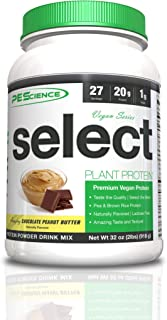 PEScience Select Vegan Plant Based Protein Powder, Chocolate Peanut Butter, 27 Serving, Premium Pea and Brown Rice Blend