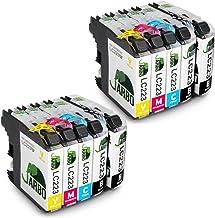 JARBO Compatibles Brother LC223 Cartouche d'encre Compatible avec Brother DCP-J4120DW DCP-J562DW MFC-J480DW J680DW J880DW J4420DW J4620DW J5320DW J5620DW J5720DW (4 Noir,2 Cyan,2 Magenta,2 Jaune)