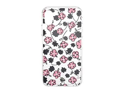 Kate Spade New York Jeweled Floradoodle Phone Case For iPhone XS (Clear Multi) Cell Phone Case