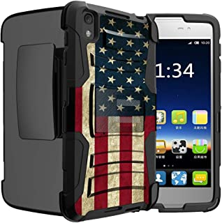 Untouchble Case for Alcatel Idol 4| Idol 4 Flag Case [Heavy Duty Clip]- Shockproof Swivel Holster Case with Built in Kickstand - Vintage America Flag