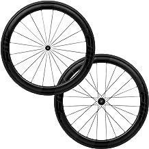 FFWD Wheels | F6R FCC DT350 | 60mm Tubeless Carbon Clincher Wheel Set | DT Swiss DT350 11 Speed Black