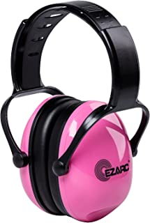 EZARC 防音イヤーマフ 遮音値 SNR30dB 耳当てプロテクター 折りたたみ型 子供用 学生用 睡眠・勉強・自閉症・聴覚過敏緩めなど様々な用途に 騒音対策(ピンク)
