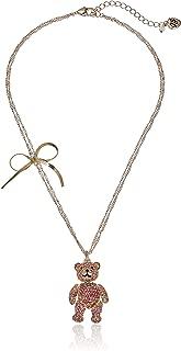 Women's Pave Bear Pendant Necklace