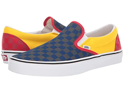 Vans Classic Slip-Ontm ((OTW Rally) Navy/Yellow/Red) Skate Shoes