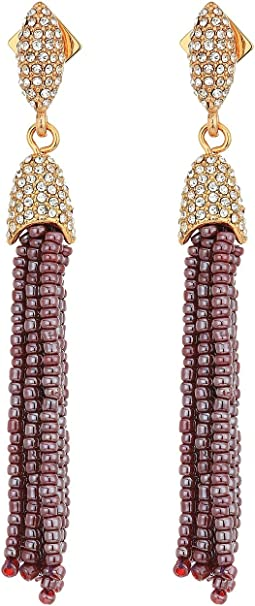 Vince Camuto Seed Bead Tassel Fringe Earrings