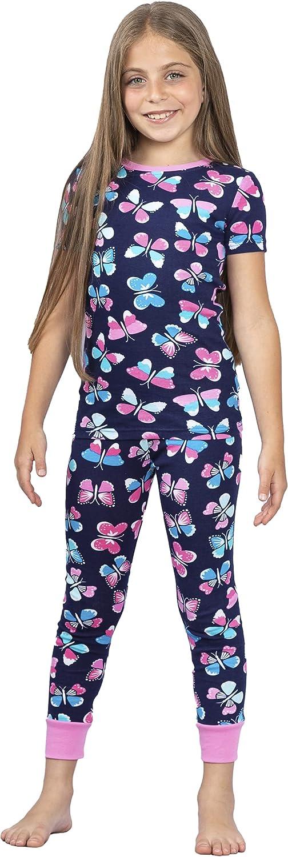 Prestigez Girls' Organic Cotton 2 Piece Pajama Sleepwear Set