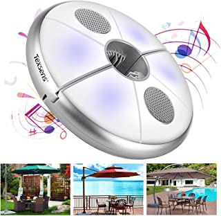Texsens LED Umbrella Light with Bluetooth Speaker, USB Rechargeable Color Changing Pole Camping Lamp Indoor & Outdoor, U-1