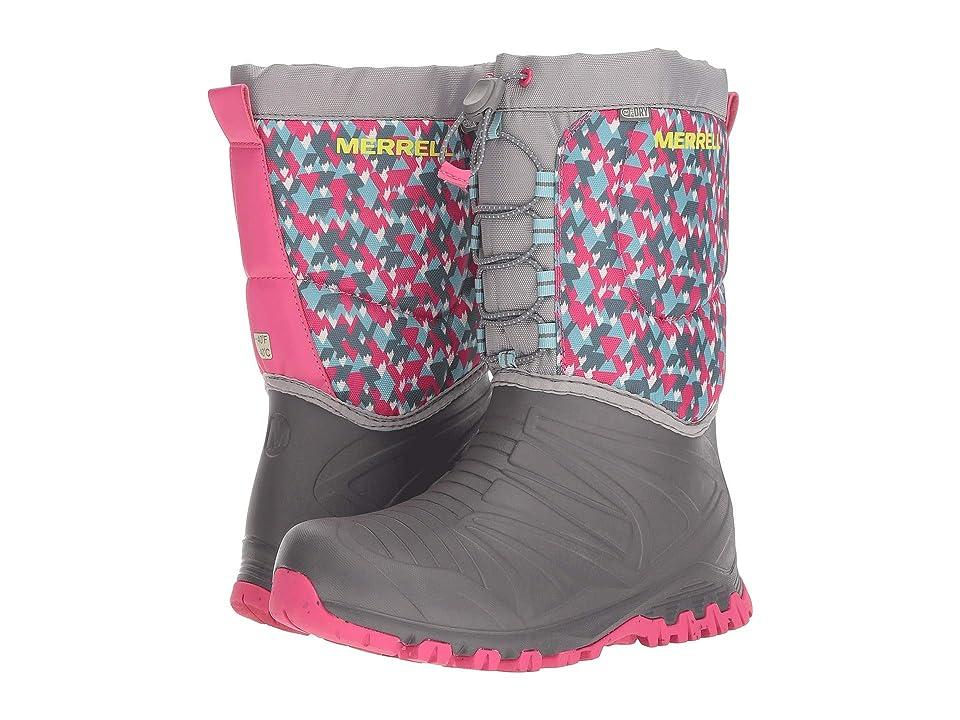 Merrell Kids Snow Quest Lite Waterproof (Big Kid) (Grey/Print) Girls Shoes