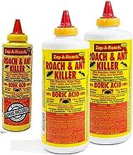 Boric Acid Roach & Ant Killer - Pest Control 1 LB Bottle (454 Grams) - 2 Pack + Bonus Bottle