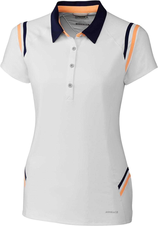 Cutter & Buck Women's Moisture Wicking Drytec UPF 50+ Short Sleeve Polo Shirt