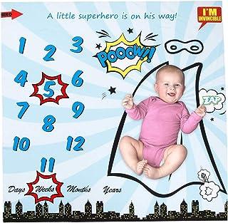 Haikaini Couvertures mensuelles mensuelles pour bébé, accessoire de photographie, animal sirène floral emmailloté, molleto...