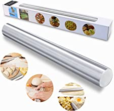 TedGem PNHB Stainless Steel, Metal Rolling Pin for Bakers, Cookie & Pastry Dough, 40CM