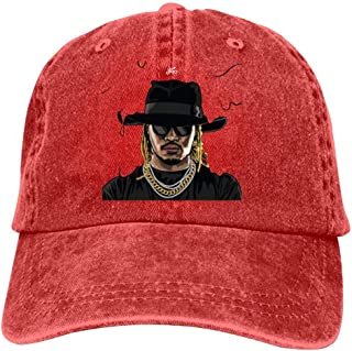 Anime Logo Rapper Fu-ture Adjustable Adult Washed Cowboy Hat