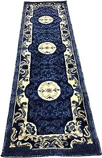 Carpet King Traditional Runner Area Rug Navy Blue Persian Design 101 (2 Feet X 7 Feet 3 Inch)