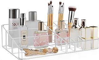 Kootek Makeup Organizer، Clear Storage Storage Box ضخیم پلاستیکی سینی سینی 11-محفظه لوازم آرایشی نگهدارنده سازمان برس ، جواهرات ، لوازم آرایشی