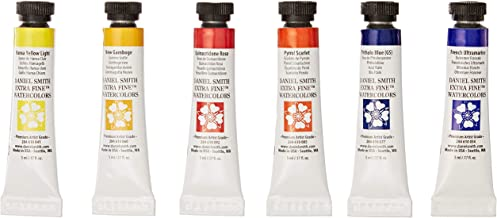 DANIEL SMITH 285610005 Extra Fine Essentials Introductory Watercolor, 6 Tubes, 5ml