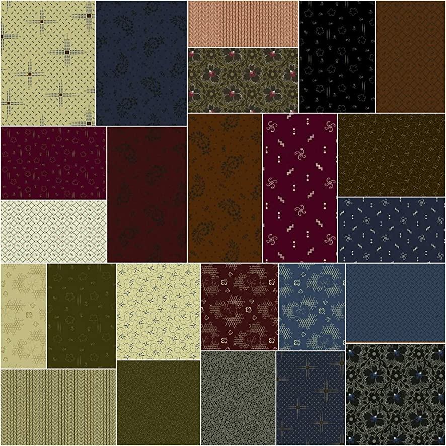 Jill Shaulis Gathering Fat Quarter Bundle 24 FQs Precut Cotton Fabric Quilting FQs Assortment Windham