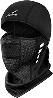 Balaclava Ski Mask,Motorcycle Running Full Face Cover Windproof Waterproof Face Mask for Men Women, Windproof Outdoor Sports Mask, Ski&Snowboard Gear Black