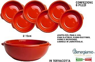 6x TEGAME TEGAMINO IN TERRACOTTA PENTOLA CERAMICA gnocchi forno terracotta