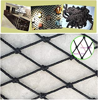 Children Fall Protection Safety Net BHH Black Stair Balcony Child Net Protection Safe Black Decor Nettinng Anti-fall Rope Net Building Isolation Net Home Outdoor Kindergarten Climbing Rope Thick 8mm m