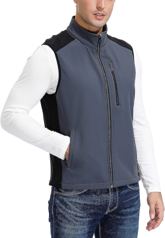 MOHEEN Men's Fleece Lined Max 46% OFF Softshell Jacket lowest price F Travel Outdoor Vest