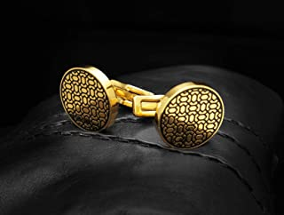 Cufflinks FOR MEN GOLD BLACK