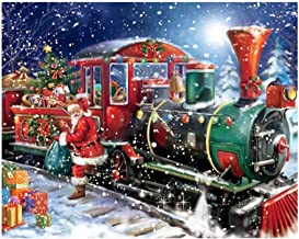 Ukerdo Santa Claus Train Pictures for Home Wall Arts Décor DIY Diamond Painting Kits Full Drill