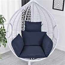 Indoor/Outdoor Chaise Lounger Cushion Hanging Egg Hammock Swing Chair Cushions Solid Color with 2 String Ties Soft Chair B...
