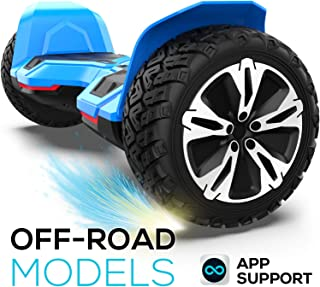 Hoverboard Off Road All Terrain Hoverboard with 8.5 inch Tires, self Balance Hoverboard with Colorful LED Lights UL2272 Certificated and Music Speaker app Function Smart Hoverboard