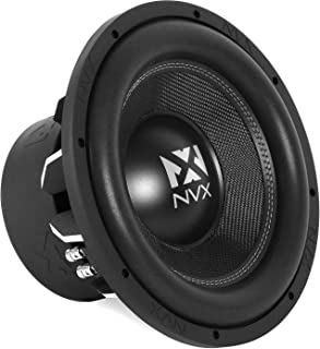 NVX 12-inch True 1000 watt RMS 2000 watt Peak Dual 4-Ohm Car Subwoofer 3-Dimensional Die Cast Aluminum Basket [VCW124]