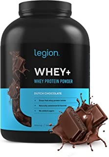 Legion Whey+ Whey Isolate Protein Powder from Grass Fed Cows - Low Carb, Low Calorie, Non-GMO, Lactose Free, Gluten Free, ...