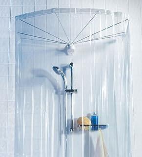 Spirella OMBRELLA CLEAR 1004436 Umbrella Shower Top with Shower Curtain 200 cm x 170 cm