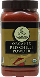 Naturevibe Botanicals Organic Red Chilli Powder 1lbs, Capsicum annuum | Non GMO & Gluten Free | Adds Flavour and Spice