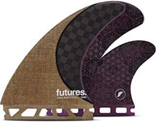 Futures Rasta Twin + 1 Fins - Jute/ Carbon/ Purple