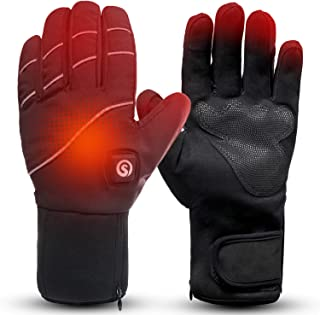 Image of Heated Gloves for Men & Women, Electric Rechargeable Battery Heating Gloves for Winter Sports Arthritis Raynaud Winter Snow Ski Hunting Camping Hiking Riding Warm