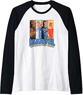 Marvel Fantastic Four Super Heroes The Timeless Collection Manche Raglan