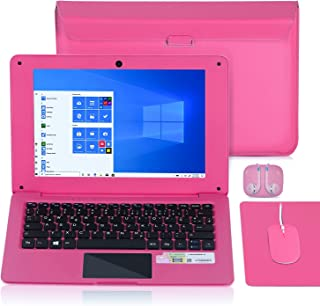 Laptop 10.1 Inch Notebook, Windows 10 Quad Core Netbook Computer Netflix, YouTube, WiFi, HDMI, with Laptop Bag, Mouse, Mou...