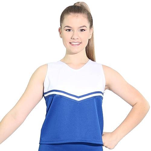 17e5e80b0 Danzcue Womens V-Neck Cheerleaders Uniform Shell Top
