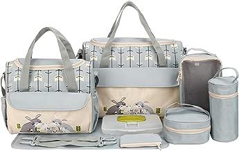 SoHo Animals Diaper Tote Bag 10Pc, Rabbits Gray
