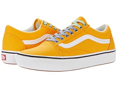 Vans Comfycush Old Skool ((Laced) Saffron/True White) Athletic Shoes