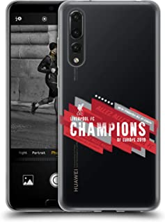 Official Liverpool Football Club Europe Six Times 2019 Champions Soft Gel Case Compatible for Huawei P20 Pro